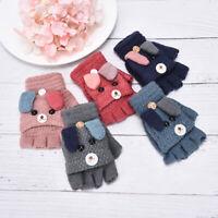 Child Kids Winter Warm Thick Gloves Baby Mittens Imitation Cashmere Baby Gl alJC