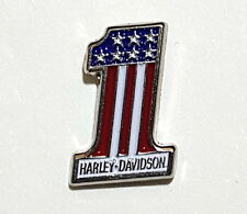 HARLEY DAVIDSON USA NUMBER 1 VEST LAPEL PIN ** PATRIOTIC AMERICAN **