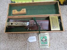 Puma White Hunter knife made in Germany in wood box (lot#13600)