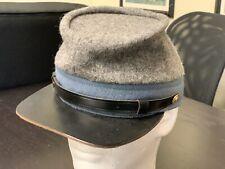 Civil War, Confederate Grey wool High-Quality, hand made Kepi - Size 7 5/8 - Xl