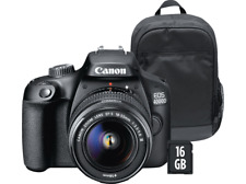Cám-Canon EOS 4000D,Sensor APS-C,18 MP,Full HD,Wi-Fi+EF-S 18-55mm f/3.5-5-6 III