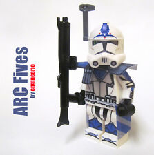 LEGO Custom Clone Trooper - Fives - commander mini figure rex cody ARC