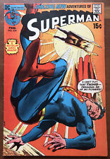 Superman #234 February 1971 Bronze Age!  Classic Neal Adams Cover FN 6.0!