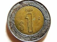 2005 Mexican $1 Bi-Metallic Coin