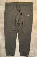 Nike Women's Plus Size NSW Fleece Regular Pants Size 30-32 Grey AH2865 071 NEW