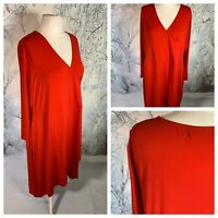 SIGNATURE COLLECTION Ladies Red Dress Size 1X/1T 18/20 Stretchy MIDI NEW NWOT