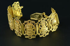 Art Nouveau Rare large superb antique St Michael 's Mount Bracelet feligree