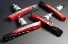 2 PAIRS 4 PADS V BRAKE PADS SHOES MTB 72MM FOR SHIMANO SRAM AVID RED AQUA-GUIDE