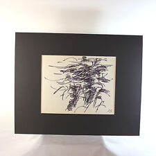 Original Ink on paper drawing by French Listed artist Jacques Germain (1915-2001