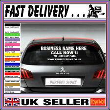 Personalised Business Rear window Car & Van Vinyl Signs Stickers 800mm X 600mm
