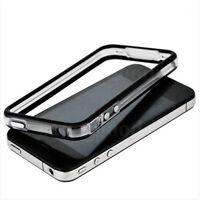 Black-Clear Bumper Frame TPU Silicone Case 4 iPhone 4S CDMA 4G W/Side Button