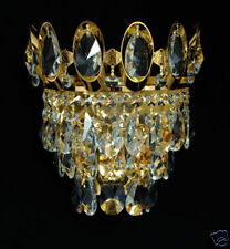 Cristal & Metal Aplique (N) con Real Cristales Oro O plateadot posible