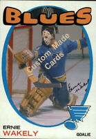 Custom made 1971-72 St. Louis blues Ernie Wakely hockey card