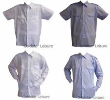 Men's Polyester No Pattern Business-Regular Collar Formal Shirts