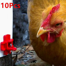 10PCS Horizontal Chicken Nipples Waterer Automatic Poultry Drinker Household #US