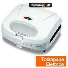 Tostapane Tostiera Piastra Toast Piastra Elettrica Antiaderente 750W Easy