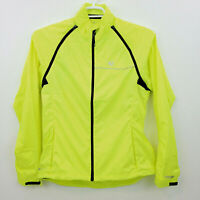 Pearl Izumi Cycling Jacket Zip Off Arms Womens Large Yellow Rain Wind Vest