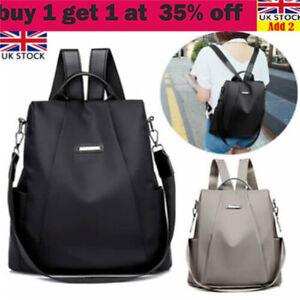 Women Anti-Theft Backpack Waterproof Rucksack Ladies School Travel Shoulder Basa