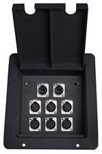 Elite Core FB8-2NE8FD Recessed Stage Pocket Floor Box w/ 6 XLR, 2 EtherCon Cat5e