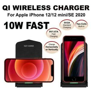 Qi Wireless Charger Stand Dock for iPhone 12 iPhone 12 Mini iPhone SE 2020 Model