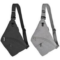 OSOCE Black Sling Backpack Anti-Theft Waterproof Shoulder Chest Crossbody Bag AU