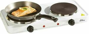 2500W Double Electric Hot Plates Cooking Hob Cooker Portable Double Plates-UK