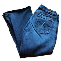 7 for all mankind crop A-pocket jeans size 26 women blue Flare Capri