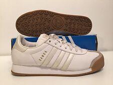 Classic 2004 Adidas SAMOA Mens White/Gum/Gold Leather & Swede Size 9 Mint
