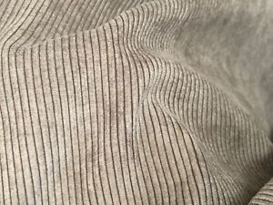 FAWN BROWN  SMALL WALE CORDUROY UPHOLSTERY FABRIC