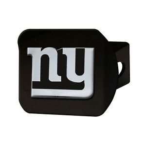 Fanmats NFL New York Giants 3D Chrome on Black Metal Hitch Cover Del. 2-4 Days