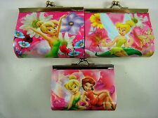 Princess Tinkerbell Kids Girls Children Coins Purse Money Pouch Bag + Pendant