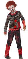 Zombie Monster Scary Clown Boys Kids Childs Halloween Fancy Dress Costume 4-12