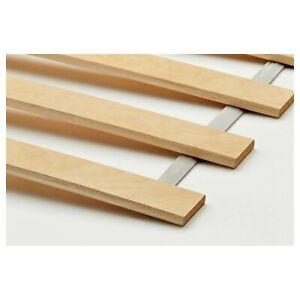 Ikea LUROY Queen Slatted Bed Base Mattress Support Birch Veneer 001.602.15 NEW!