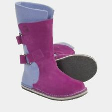 $170 Sorel Women's Purple Blue Chipahko Suede Wool Round Toe Boots Shoes Size 3