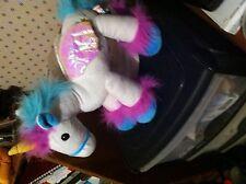 Fairyland Amigos Juguete suave Unicornio Blanco de fábrica de tarjeta