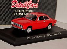 ALFA ROMEO GTV 2000 COUPE 1971 RED DETAIL CARS ART 440 1/43