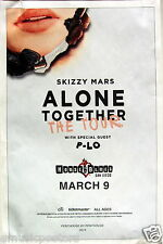 "SKIZZY MARS / P-LO ""ALONE TOGETHER TOUR"" 2016 SAN DIEGO CONCERT POSTER - Hip Hop"