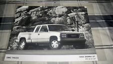 1994 GMC SIERRA GT PICKUP  ORIGINAL  FACTORY PRESS PHOTO