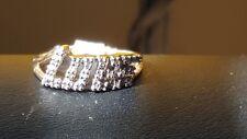 Vintage 10 k gold diamond LOVE ring . Size 5.5