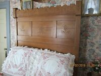 Tiger Maple full size bed great stripe you not find one better Antque Victorian