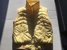Vintage Skyr Scandia Quilted Puffer Down Ski Snow Vest –Ladies L - Canary Yellow