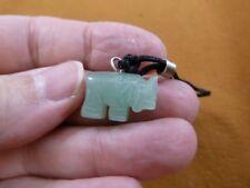 (an-ele-21) Elephant Green Aventurine simple carving Pendant necklace gemstone