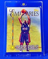 CHARLES BARKLEY 1998 Topps Emissaries Gold Foil RARE Chrome Insert Rockets NBA