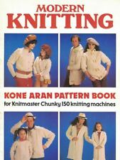 Modern Knitting Kone Aran Pattern Book for Knitmaster Chunky 150 Knit Machines