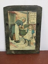 Vintage Style Washing Powder Advertising Slate Wall Sign Plaque Shabby Chic