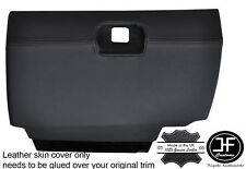 BLACK STITCHING GLOVE BOX LEATHER COVER FITS BMW 3 SERIES E30 1982-1992