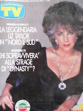 TV Sorrisi e Canzoni n°48 1986 Liz Taylor - Spandau Ballett + BINGO  [C69]