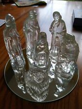 Beautiful Glass/Crystal Nativity Set~7pc~