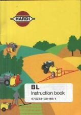 HARDI BL SPRAYER OPERATORS MANUAL AND PARTS LIST