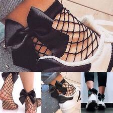 Le donne a caviglia alta Calze LADY Mesh Lace Ruffle Pesce Netto Calzini Corti